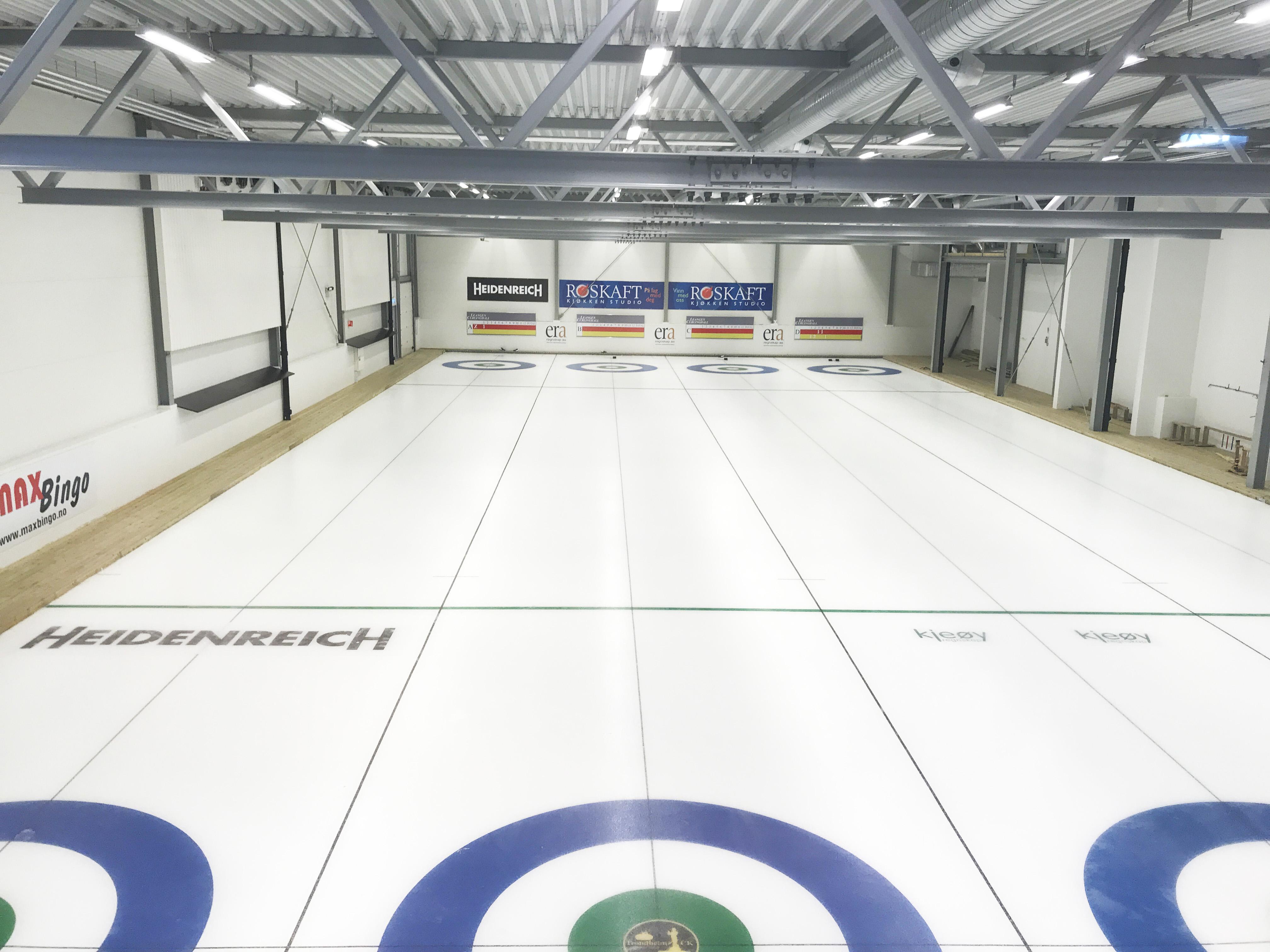 Leangen curlinghall isbaner