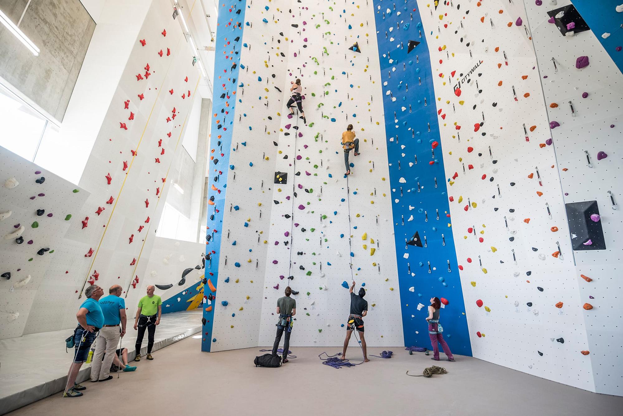 Konkurranseveggen på Tromsø klatresenter
