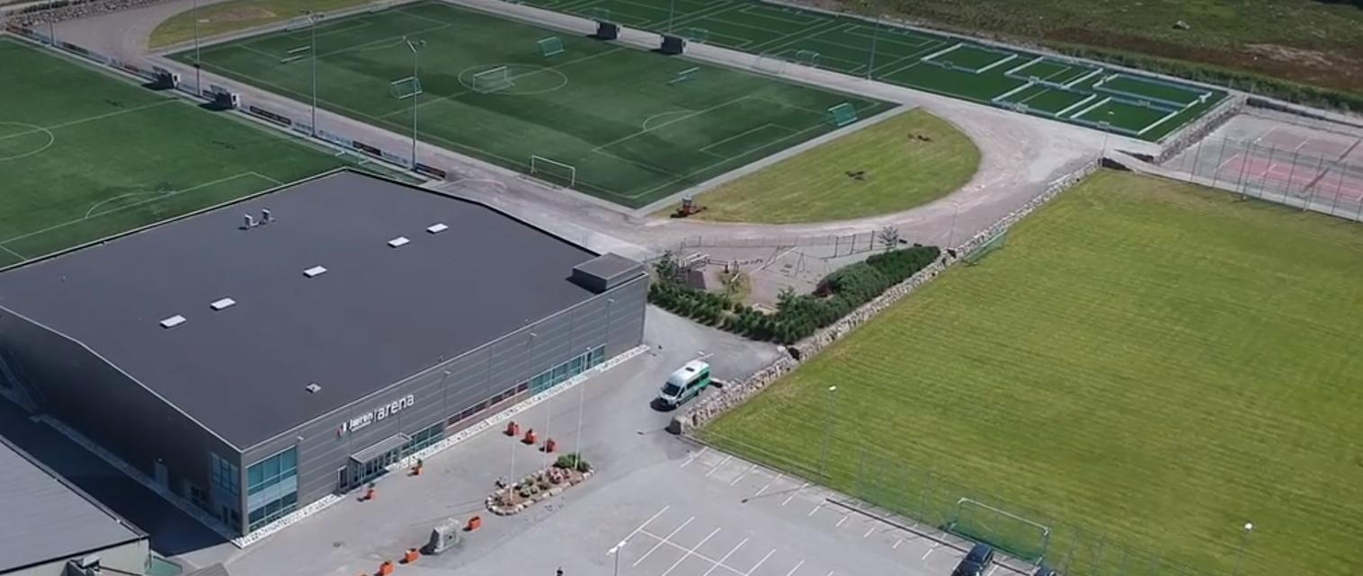 Dronefoto Varhaug idrettspark