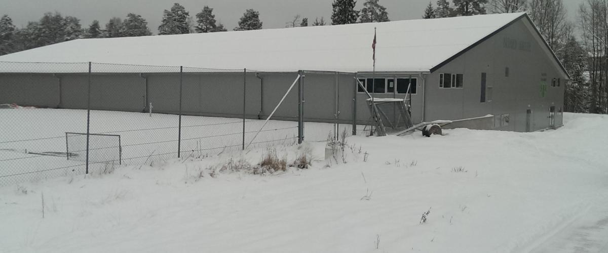 Bergerhallen Nesodden tennisklubb, utside vinter