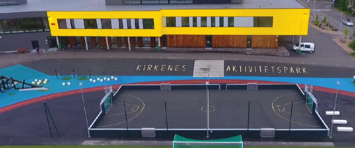 Dronefoto Kirkenes aktivitetspark