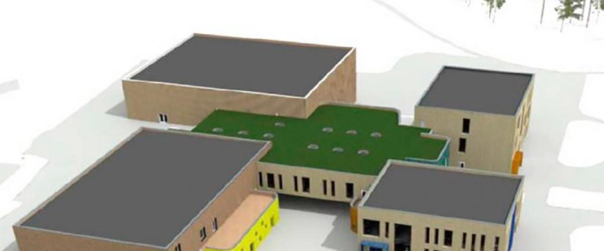 Skattekista - et skoleprosjekt med idrettshall og svømmehall