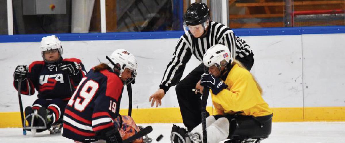Drop under paraishockeykamp