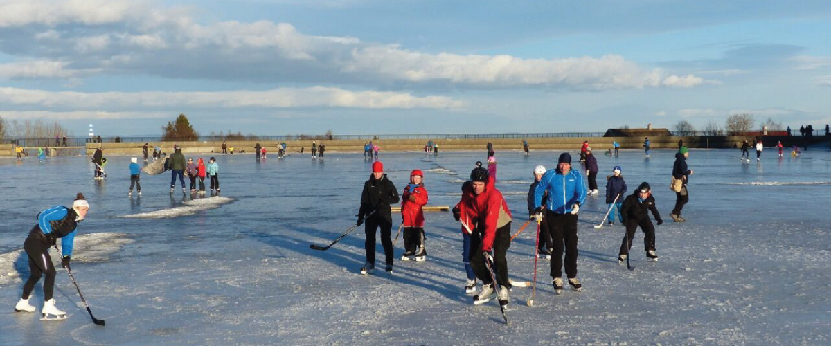 Ishockeyaktivitet på naturisbane