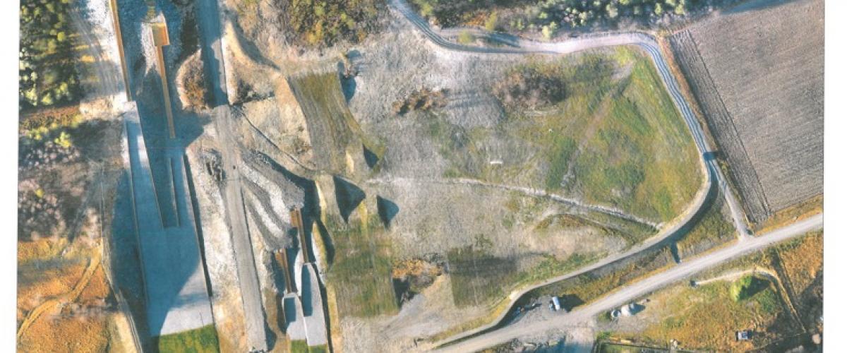 Flyfoto av hoppbakker og skipark