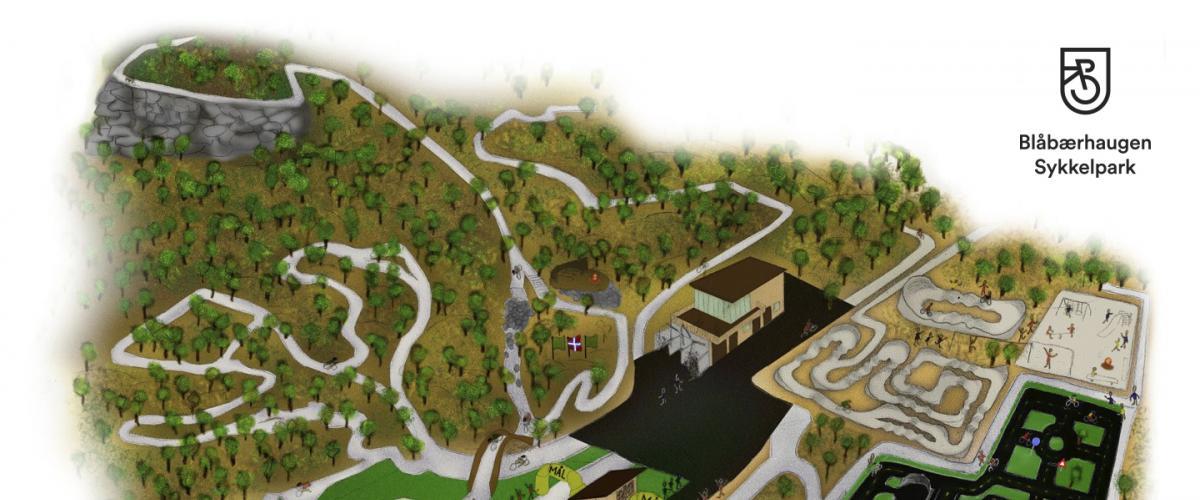 Illustrasjon av Blåbærhaugen sykkelpark
