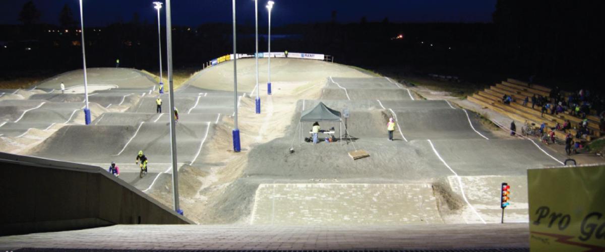 BMX-anlegget om kvelden