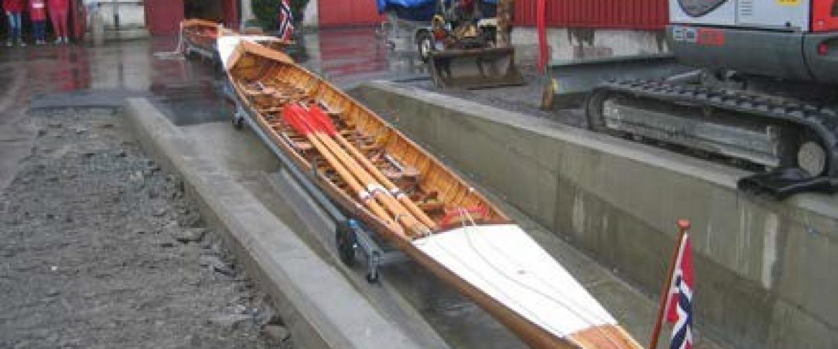 Båt i sliske