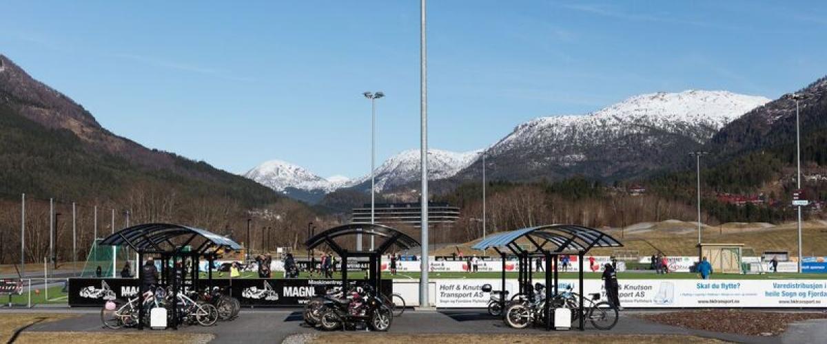 Sykkelparkering Hafstadparken