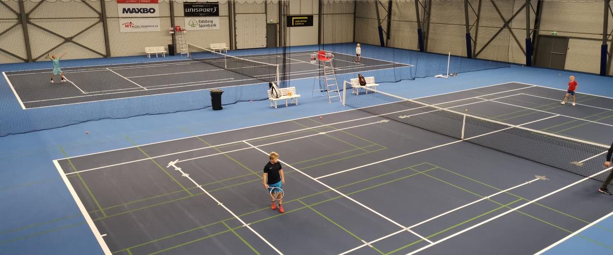 Tennisbaner i Mysen Rackethall