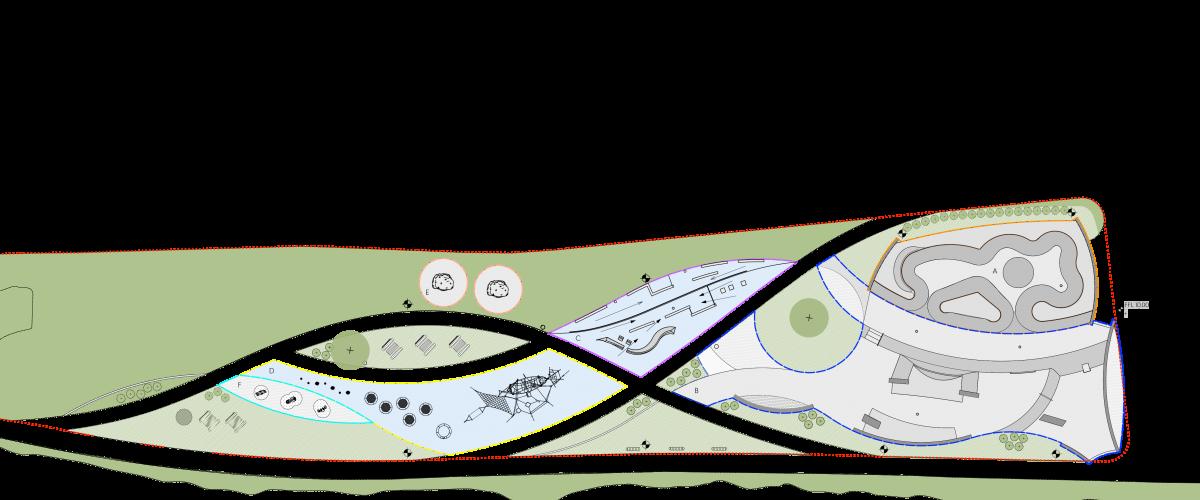 Oversiktskart over Strandpromenaden i Kongsvinger