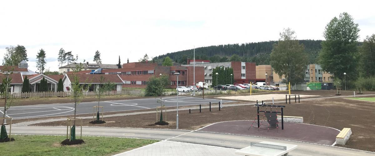 Glommasvingen skoleanlegg uteområde