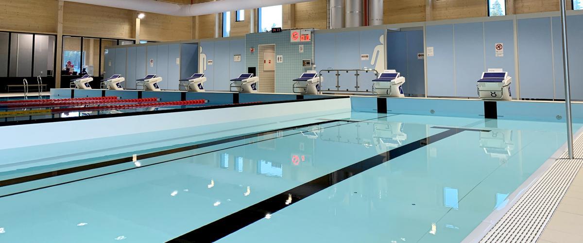 Startpaller i Skattekista svømmehall