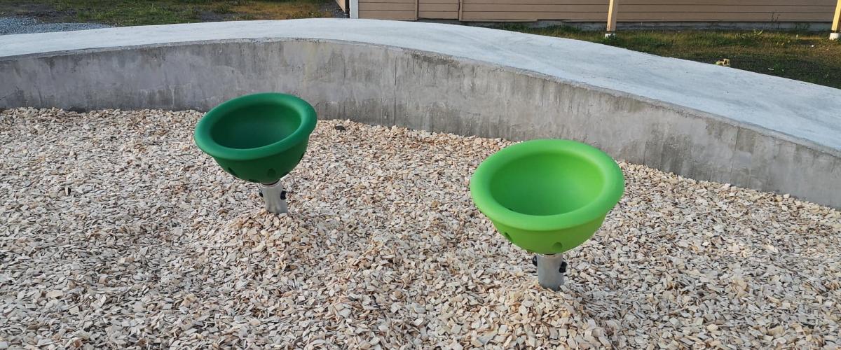 Spinnerbowls i aktivitetsparkens bølgebane