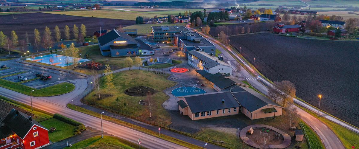 Dronebilde Skogn aktivitetspark