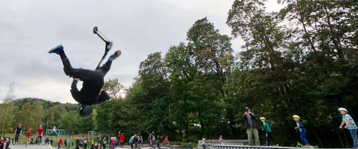 Sparksykkeltriksing i Hvalstad aktivitetspark