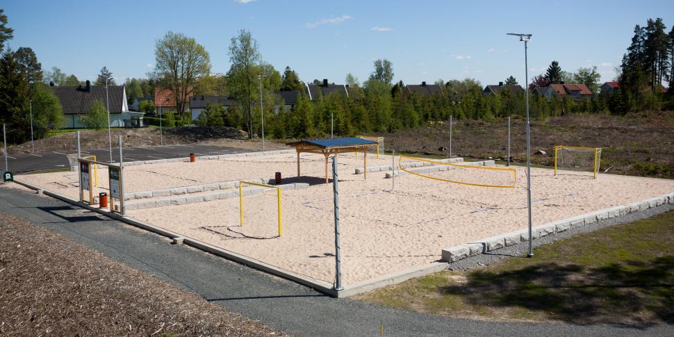 Bilde av beachhåndballbane