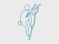 Illustrasjonsbilde med person som klatrer