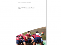 """Forside """"Rugby Turf Performance Specification"""""""