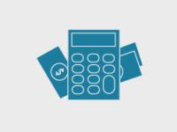 Illustrasjonsbilde, kalkulator og penger